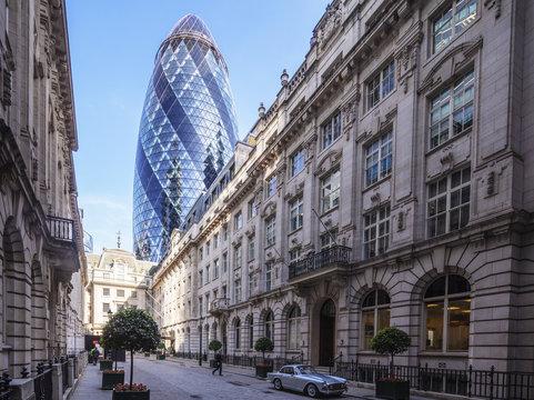 The Gherkin (30 St. Mary Axe) building, City of London, London