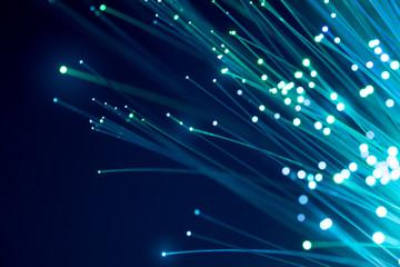 Fiber optics, abstract & blur background Wall mural