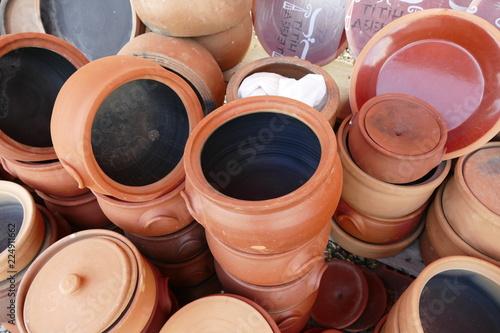 Turkey Anatolia water jug types, clay pots and casserole