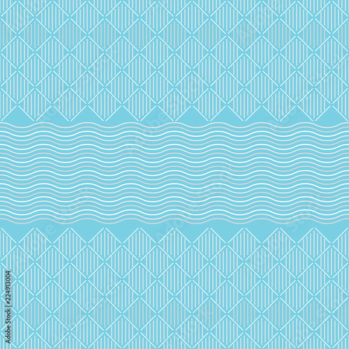 Seamless Pattern Vertical And Diagonal Lines Squares And