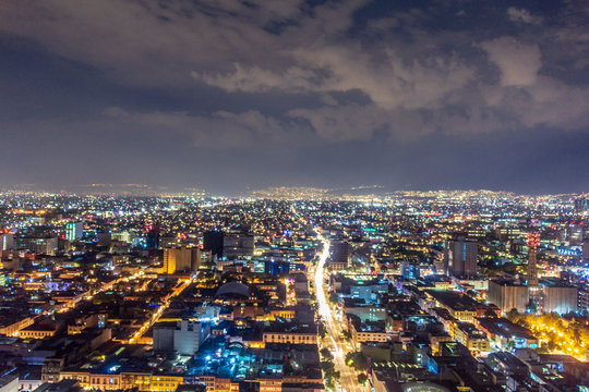Mexico city by night