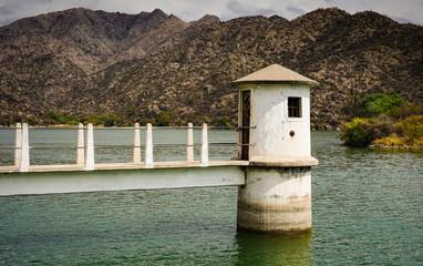 Old dam green lake