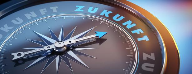 Dunkler Kompass mit Lichtspiel - Zukunft