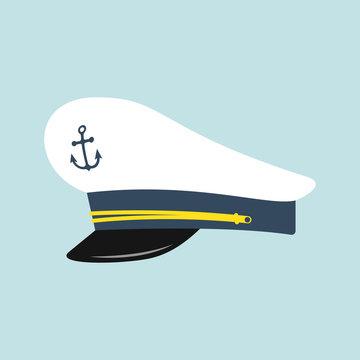 Captain hat with anchor emblem