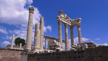 Pergamon museum, ruins of ancieny acropolis, Bergama, Turkey