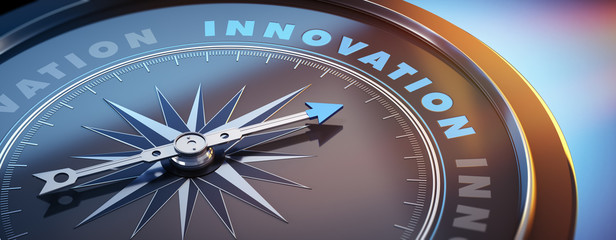 Dunkler Kompass mit Lichtspiel - Innovation