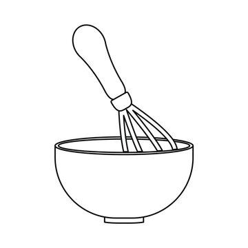 kitchen bowl whisk utensil pastry