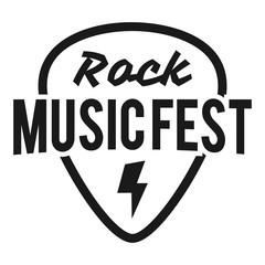 Rock fest badge/Label vector set