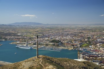 View on Cartagena in Murcia, Spain