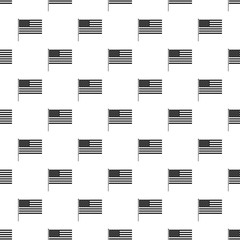 American flag pattern. Simple illustration of American flag vector pattern for web