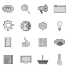 Marketing icons set in monochrome style isolated on white background