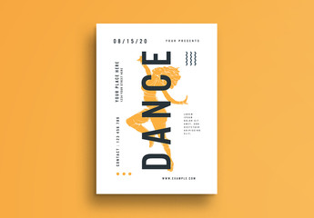 Flyer Layout with Dancer Illustration