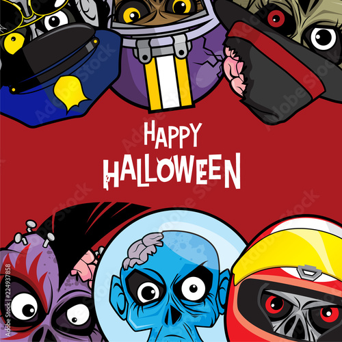 background or poster design with halloween themes stock image and