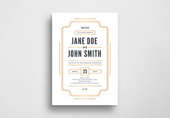 Minimalist Wedding Invitation Flyer Layout
