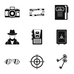 Scout icons set. Simple illustration of 9 scout vector icons for web