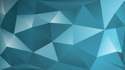 Abstract polygonal background of many triangles in light blue colors