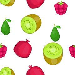 Types of fruit pattern. Cartoon illustration of types of fruit vector pattern for web