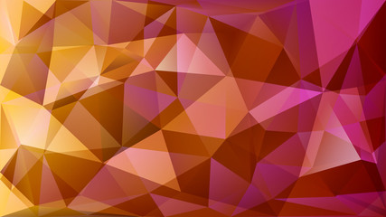 Abstract polygonal background of many triangles in yellow and purple colors