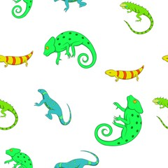 Lizard pattern. Cartoon illustration of lizard vector pattern for web