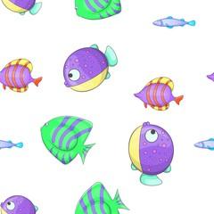 Fish pattern. Cartoon illustration of fish vector pattern for web