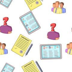 Employee pattern. Cartoon illustration of employee vector pattern for web