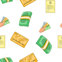 Funding pattern. Cartoon illustration of funding vector pattern for web