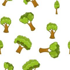 Arboreal plant pattern. Cartoon illustration of arboreal plant vector pattern for web