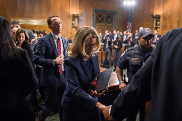 Christine Blasey Ford finishes testimony before the Senate Judiciary Committee hearing on the nomination of Brett M. Kavanaugh