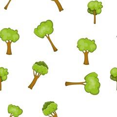 Woody plants pattern. Cartoon illustration of woody plants vector pattern for web