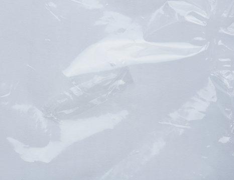 Wrinkled transparent plastic background