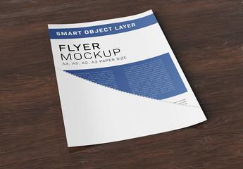 Paper on Wood Mockup