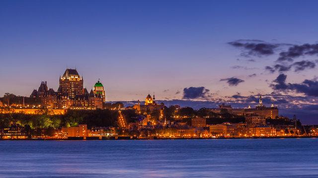 Skyline of Quebec City over Saint Lawrence River