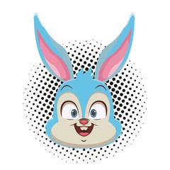 Rabbit face cartoon
