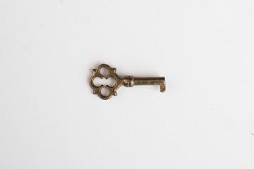 small retro key isolated on white background
