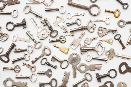old keys  - small retro key collection