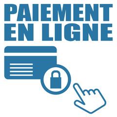 Logo paiement en ligne.