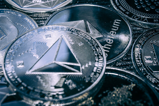 Coin cryptocurrency Tron on the background of the main altcoins