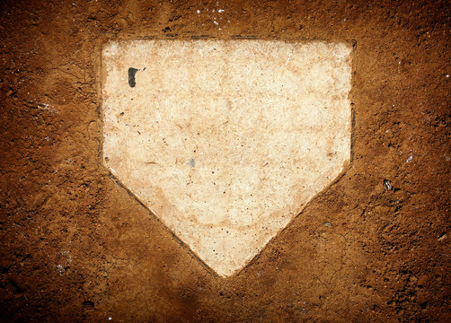 baseball home plate and dirt