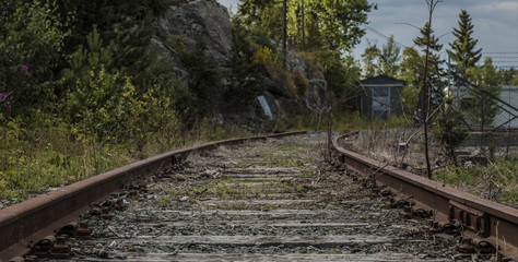 Abandoned rail tracks