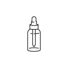 Dropper bottle tinctures vector line art icon black on white background cannabis marijuana industry business symbols