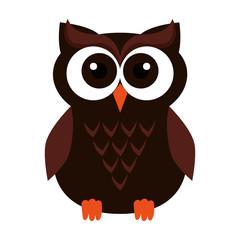 happy halloween owl icon