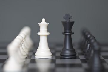 Chess game monochrome