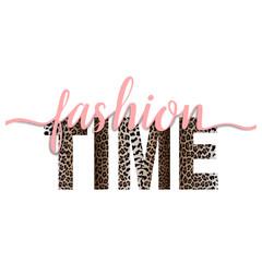 Fashion Time t-shirt fashion print with leopard pattern