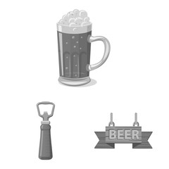Isolated object of pub and bar sign. Set of pub and interior stock vector illustration.