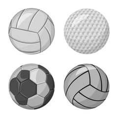Vector design of sport and ball logo. Collection of sport and athletic stock symbol for web.