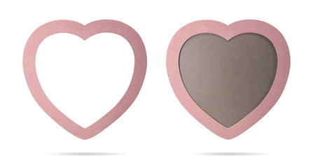 Photo frame on isolated background with clipping path. Cute picture border for montage or your design.
