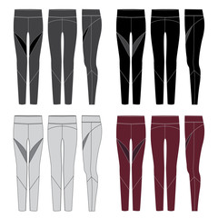 Vector template for Womens Leggings