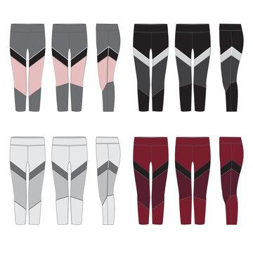 Vector template for Womens Leggings