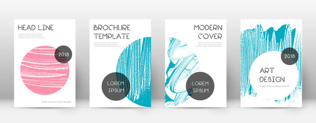 Cover page design template. Trendy brochure layout
