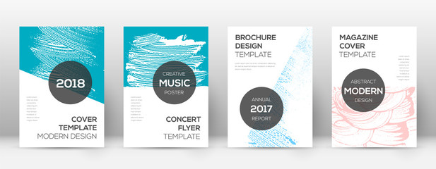 Cover page design template. Modern brochure layout